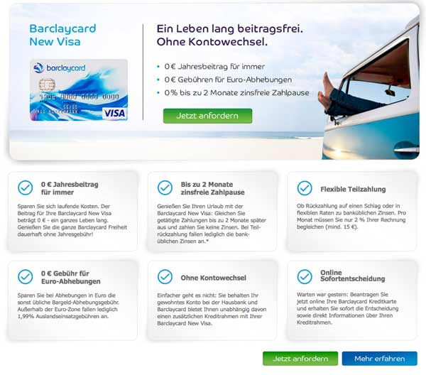 Barclaycard New Visa Screenshot