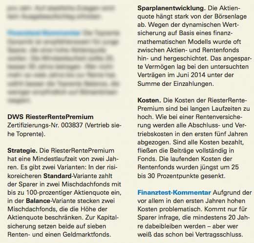 DWS Riester Rente Premium kündigen oder nicht?