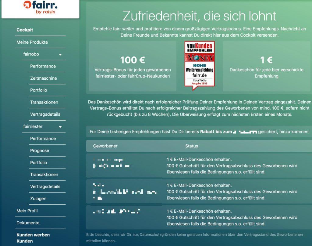Fairr günstiger –Riester-Vertrag mit Kunden-werben-Kunden-Rabatt sichern! Von Finanzblogger Jens