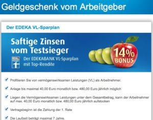 Der VL-Sparplan der EDEKA Bank wurde ausgezeichnet